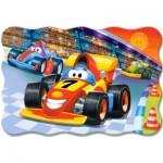 Castorland-C-02306 Minipuzzle - Autorennen