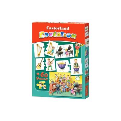 Castorland-E-081 Lernpuzzle: Musikinstrumente