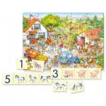 Puzzle  Castorland-E-128 Zählen Lernen - Auf dem Bauernhof