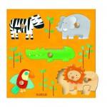 Puzzle  Djeco-DJ-01018 Holz Einbau - Savana