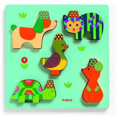Puzzle Djeco-DJ-01042 Holz Einbau - Yuko
