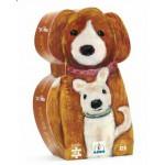 Puzzle  Djeco-DJ-07261 Silhouette Schachtel - Hundemama und Junge