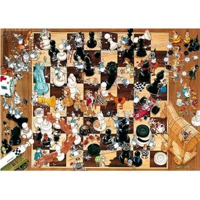 Puzzle Heye-08793 Schwarz oder Weiß