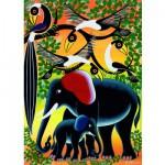 Puzzle  Heye-29458 Tinga tinga: Elefantenfamilie