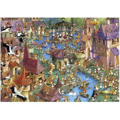 Puzzle Heye-29496 Ruyer: Bunnytown