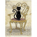 Puzzle  Heye-29535 Stuhl mit Katze
