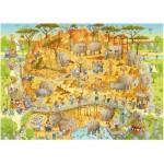 Puzzle  Heye-29639 Marino Degano: Funky Zoo, African Habitat