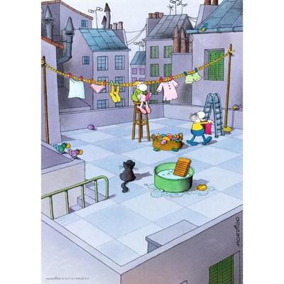 Puzzle Heye-70168-29500 Mordillo - Reinigung