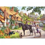Gibsons-G3056 Puzzle 500 Teile: A Ride with Mum