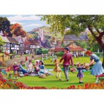 Puzzle  Gibsons-G3517 XXL Teile - Mat Edwards: Picnic on the Green