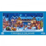 Gibsons-G386 Puzzle 636 Teile Panorama - Christmas in the Square