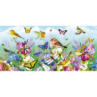 Puzzle Gibsons-G4019 Schmetterlinge und Blüten
