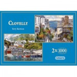 Gibsons-G5004 Puzzle 2 x 1000 Teile - Clovelly