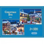 Gibsons-G5014 Puzzle 2 x 500 Teile: Christmas Eve