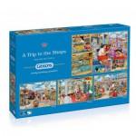 Gibsons-G5024 4 Puzzles - Trevor Mitchell: Eine Reise zu den Geschäften