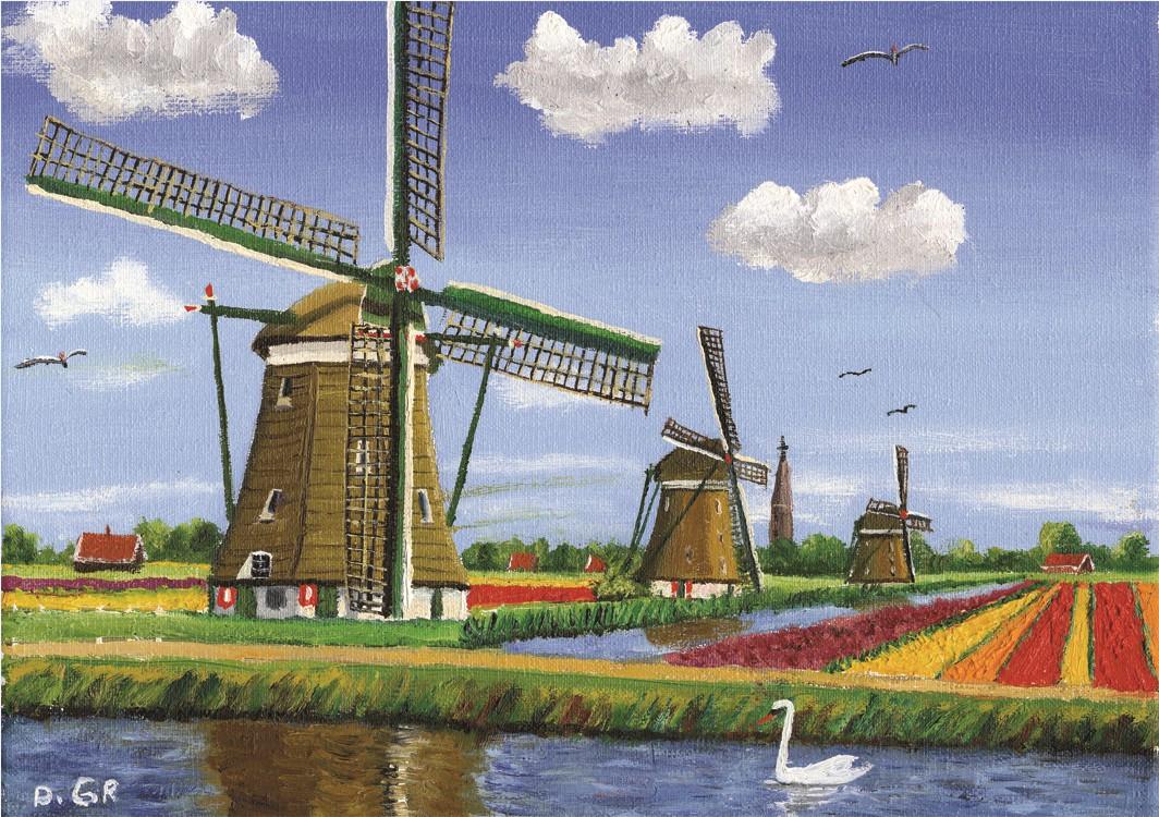 drei windm hlen in holland 1000 teile puzzelman puzzle online kaufen. Black Bedroom Furniture Sets. Home Design Ideas