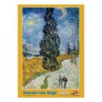Puzzle  PuzzelMan-089 Van Gogh: Straße mit Zypresse und Stern