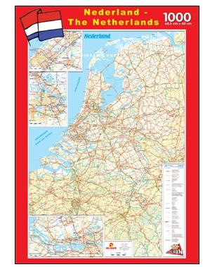 Puzzle PuzzelMan-108 Karte der Niederlande