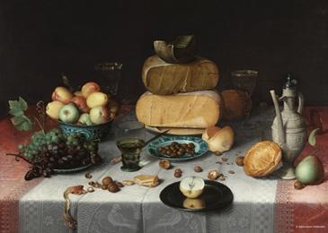 Puzzle PuzzelMan-389 Kollektion Rijksmuseum Amsterdam - Floris van Dyck - Still-Leben, Käse