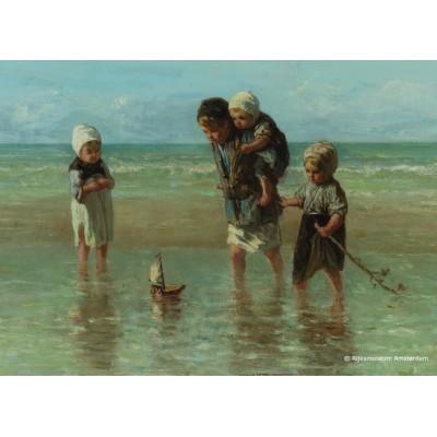 Puzzle PuzzelMan-393 Kollektion Rijksmuseum Amsterdam - J. Israels: Kinder am Meer