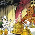 Puzzle  PuzzelMan-521 Marten Toonder - M. Bommel: Das Abendessen