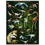 Puzzle  Eurographics-6000-0072 Gefederte Dinosaurier