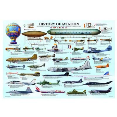 Puzzle Eurographics-6000-0086 Geschichte der Luftfahrt