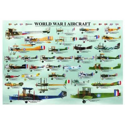 Puzzle Eurographics-6000-0087 Flugzeuge des 1. Weltkrieges