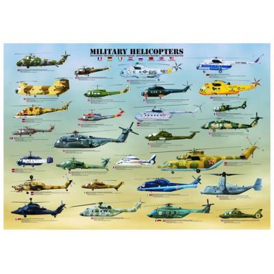 Puzzle Eurographics-6000-0088 Militärhubschrauber