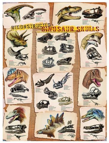 Puzzle Eurographics-6000-0096 Dinosaurierschädel