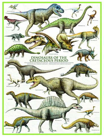 Puzzle Eurographics-6000-0098 Dinosaurier der Kreidezeit