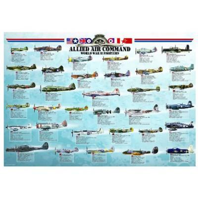 Puzzle Eurographics-6000-0379 Jagdflugzeug des zweiten Weltkrieges