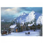 Puzzle  Eurographics-6000-0426 Weihnachten in den Rocky Mountains