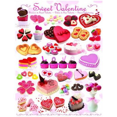 Puzzle Eurographics-6000-0431 Süßigkeiten zu Valentin