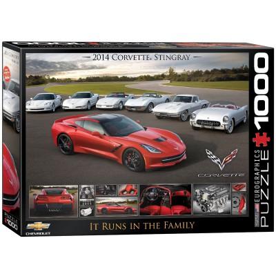 Puzzle Eurographics-6000-0736 2014 Chevrolet Corvette Stingray
