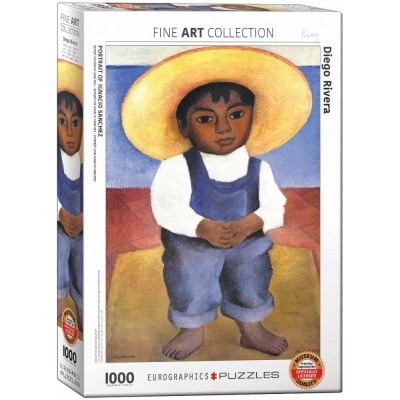 Puzzle Eurographics-6000-0799 Diego Rivera - Porträt von Ignacio Sanchez