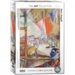 Puzzle  Eurographics-6000-0853 Marc Chagall - Paris aus dem Fenster (Detail)