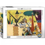 Puzzle  Eurographics-6000-0858 Joan Miro - The Tilled Field