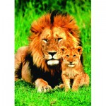 Puzzle  Eurographics-6000-1148 Löwenmutter mit Jungem