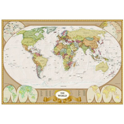 Puzzle Eurographics-6000-1272 Moderne Weltkarte