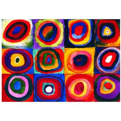 Puzzle Eurographics-6000-1323 Kandinsky: Farbstudie Quadrate (c.1913)