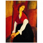 Puzzle  Eurographics-6000-1501 Amedeo Modiglian - Jeanne Hebuterne Rote Stola