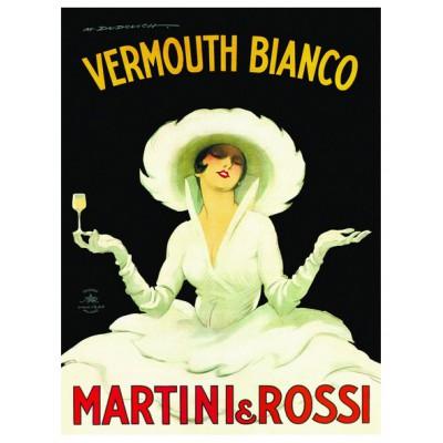 Puzzle Eurographics-6000-1528 Marcello Dudovich: Vermouth Bianco - Martini & Rossi Torino