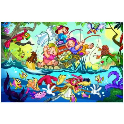 Puzzle Eurographics-6035-0423 Die drei kleinen Schweinchen
