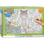 Puzzle  Eurographics-6055-0887 XXL Color Me - Eule