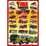 Puzzle  Eurographics-6100-0239 Amerikanische Feuerwehrautos