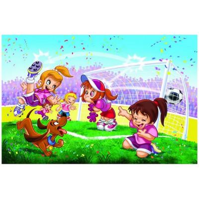 Puzzle Eurographics-6100-0413 Go Girls Go! Fußball