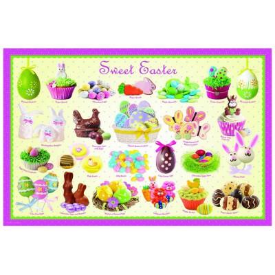 Puzzle Eurographics-6100-0541 Ostern Süßigkeiten
