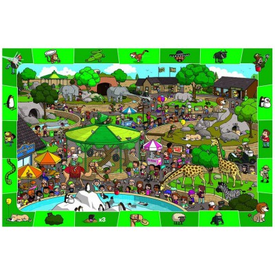 Puzzle Eurographics-6100-0542 Ein Tag im Zoo