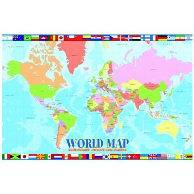 Puzzle Eurographics-6100-1271 Weltkarte